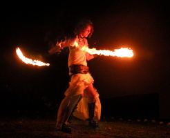 Fire spinning 103